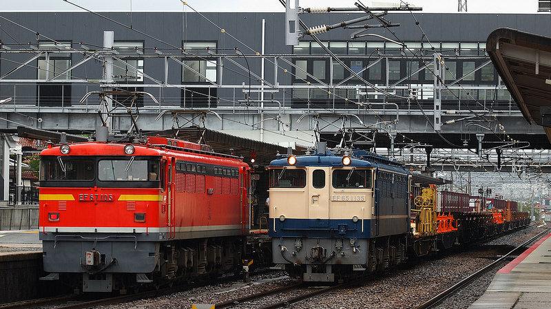 EF67 105 + 工8381レ EF65 1135