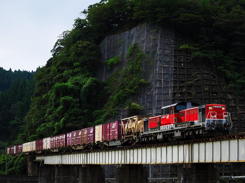 DD51 1804 Freight train in Yamaguchi line