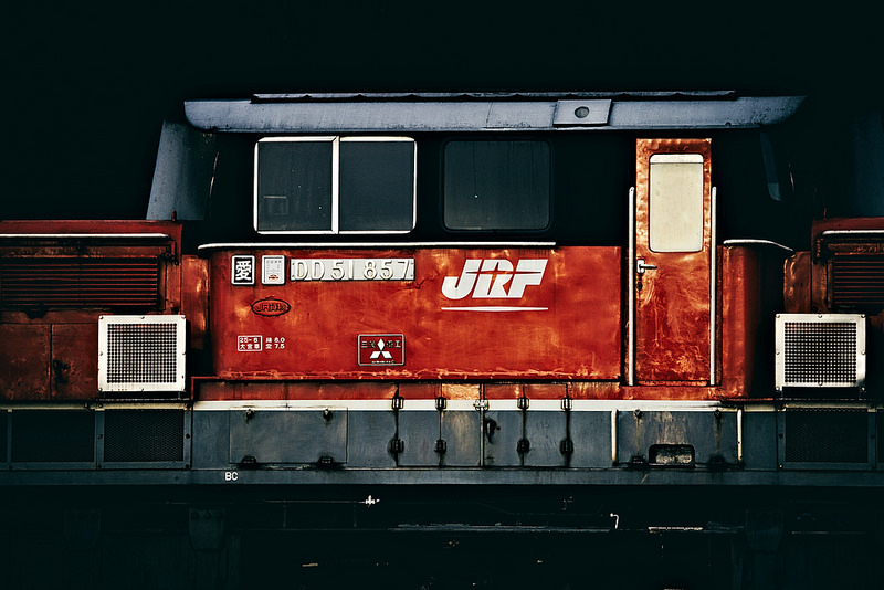 DD51 857 Freight train in Yamaguchi line